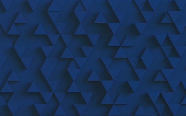 Tło wzór niebieski trójkąt. renderowanie 3d.