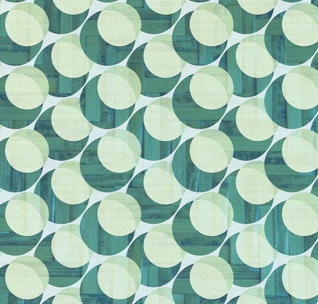 Tło wzór półtonów niebieski i zielony okrąg