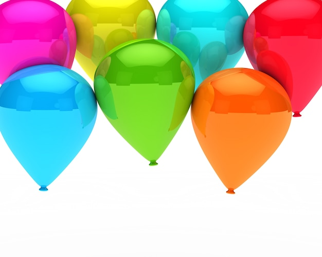 Tło z balonów urodzinowych