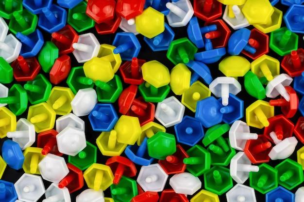 Tło z bliska kolorowej mozaiki dla dzieci