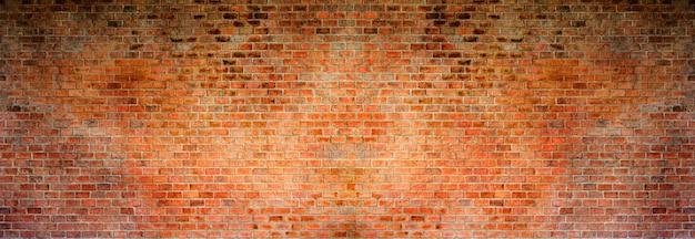 Tło z czerwonej cegły. panorama o wysokiej rozdzielczości