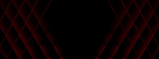 Tło z czerwonych rombów, kształtów geometrycznych, renderowania 3d, obrazu układu panoramicznego