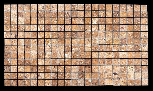 Tło z kamienia mozaikowego. mozaikowa powierzchnia kamieni naturalnych