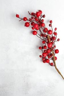 Tło z kompozycją świątecznych dekoracji