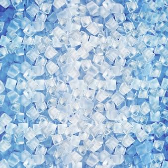 Tło z kostkami lodu w błękita świetle