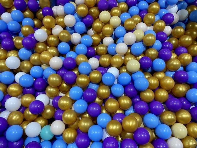Tło z plastikowych kolorowych kulek kulki basen dla dzieci z kulkami