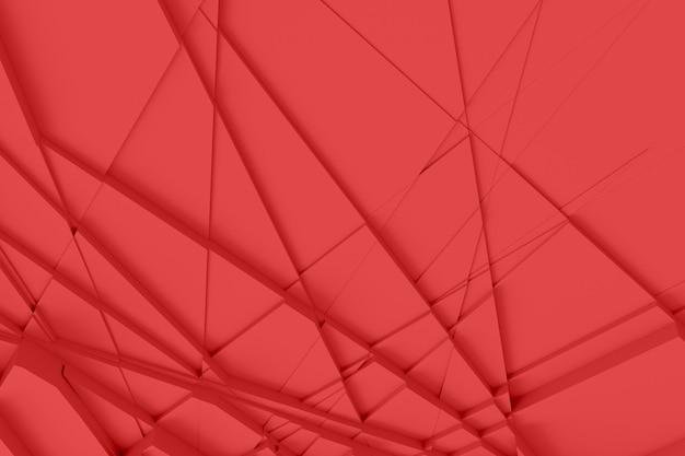 Tło z powierzchni ciie w wiele różnych wieloboki rzuca cień 3d ilustrację