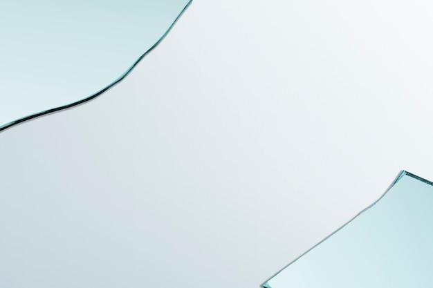 Tło z ramką obramowania odłamka szkła