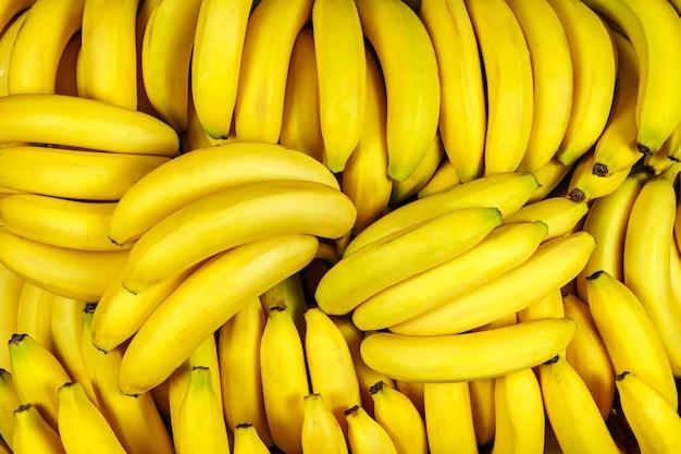 Tło z wielu kawałków bananów