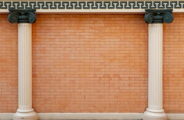 Tło zewnętrzne z architektury w stylu rzymskim