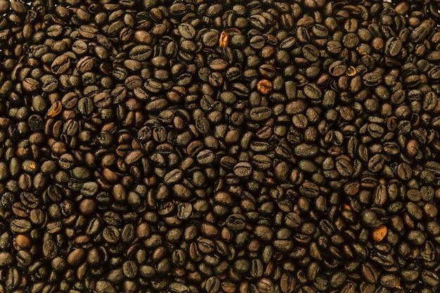 Tło ziaren kawy palonej