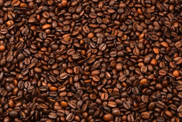 Tło ziaren kawy tekstury ziaren kawy.