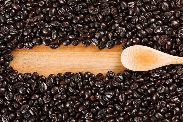 Tło ziaren kawy