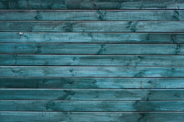 Tło zielone i niebieskie malowane drewniane deski, malowane tekstury drewna