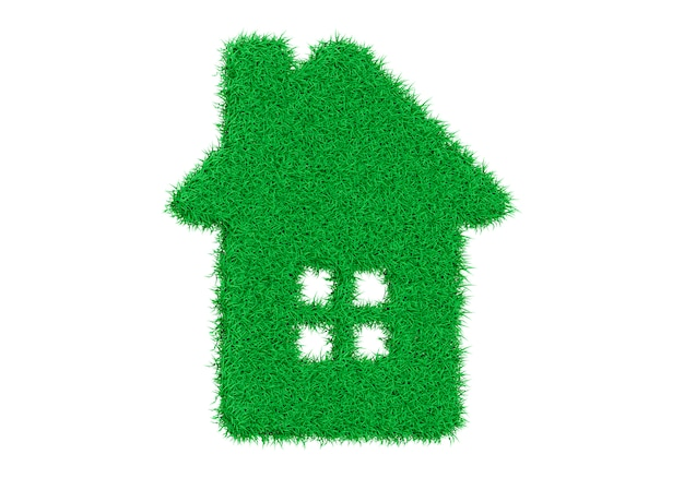 Tło zielony dom eko