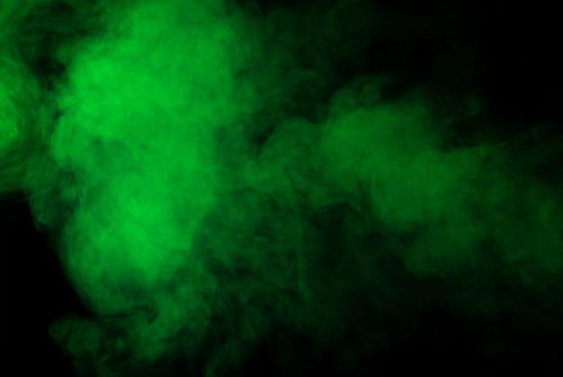 Tło zielony dym