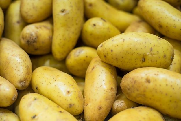 Tło ziemniaków z bliska