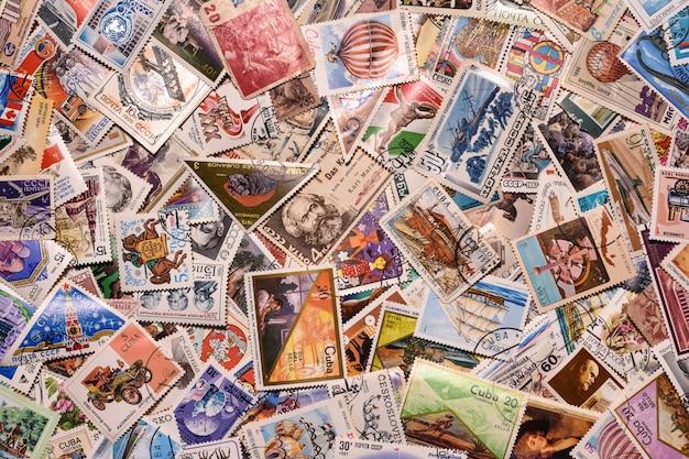 Tło znaczek pocztowy