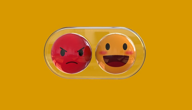 Tło znaku emotikonów emoji