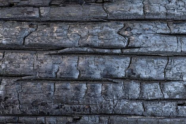 Tło zwęglonego drewna naturalne tła i tekstury