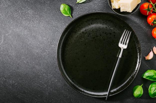 Tło żywności Ze Składników Na Makaron Premium Zdjęcia
