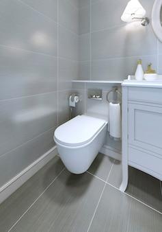 Toaleta w klasycznym stylu łazienki