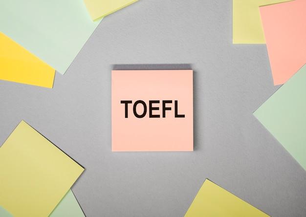 Toefl słowo akronim angielski egzamin lub test