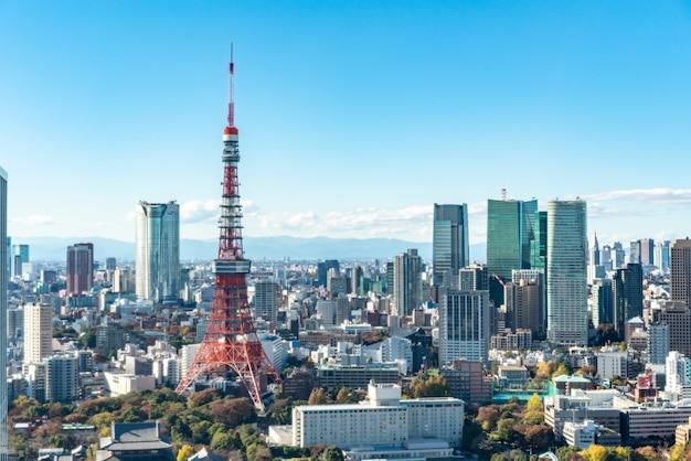 Tokio gród nowoczesny widok z lotu ptaka