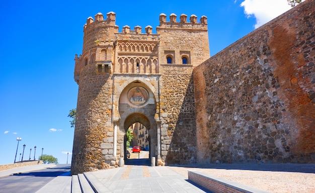 Toledo puerta del sol drzwi w hiszpanii