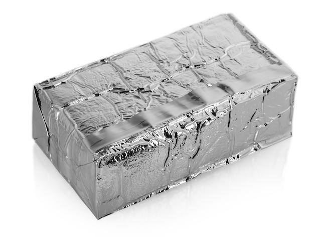 Torba aluminiowa na białym tle.