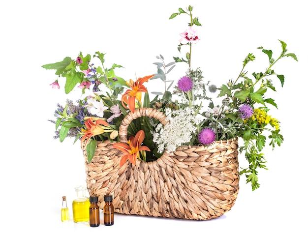 Torba i kwiaty
