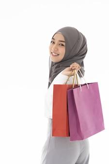 Torby na zakupy dziewczyny muzułmańskie