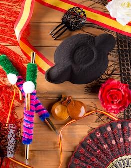 Torreador i flamenco typowe dla hiszpańskiej torero espana