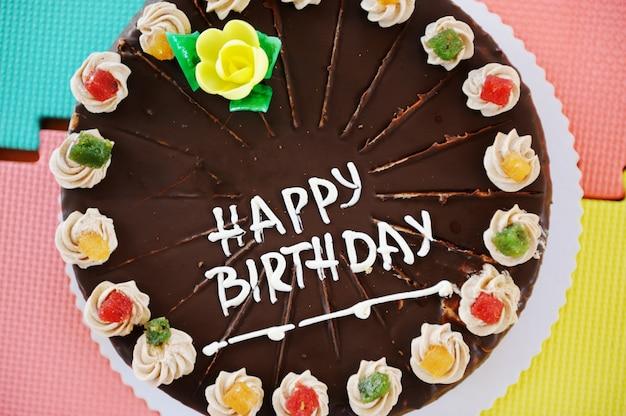 Tort na przyjęcie urodzinowe w plac zabaw dla dzieci