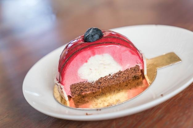 Tort rasberry mousse