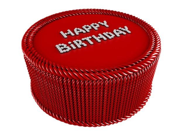 Tort Urodzinowy Na Białym Tle Premium Zdjęcia