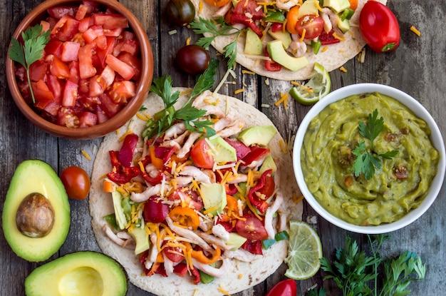 Tortille z warzywami