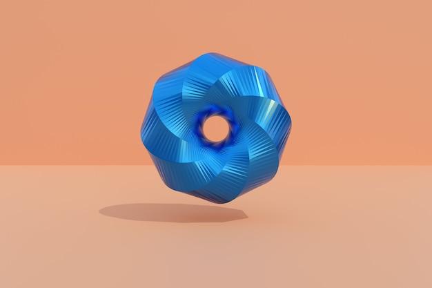 Torus clifforda. kompozycja abstrakcyjna z kształtami 3d.