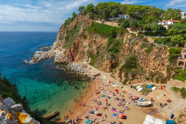 Tossa de mar na costa brava, catalunya, hiszpania