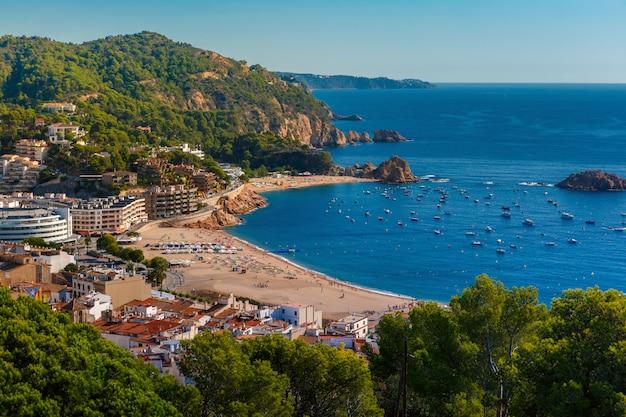Tossa de mar na costa brava, katalonia, hiszpania