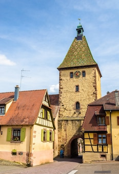 Tower gate (la porte haute) w bergheim we francji
