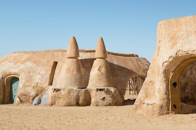 Tozeur, tunezja. zestaw filmowy gwiezdne wojny.