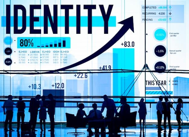 Tożsamość oznakuje handlowy copyright marketingowy pojęcie