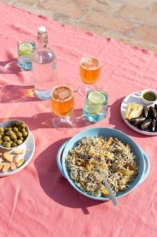 Tradycyjna aranżacja dań gulas