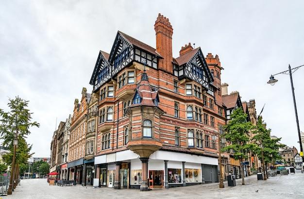 Tradycyjna architektura w nottingham east midlands w anglii