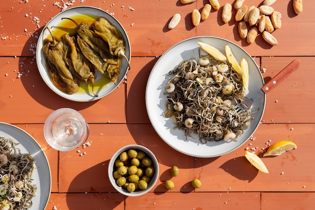 Tradycyjna kompozycja pysznego dania gulas
