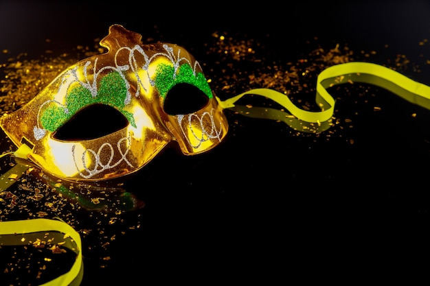 Tradycyjna maska karnawałowa do maskarady. święto żydowskie purim.