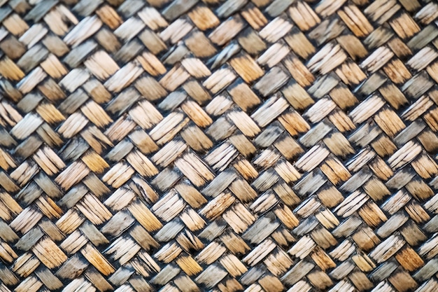 Tradycyjna rzemieślnicza natura bambus wyplata deseniową tajlandzką stylową tło teksturę