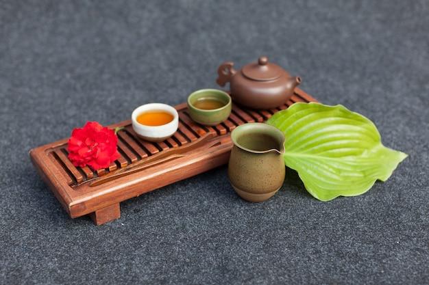 Tradycyjne akcesoria do ceremonii parzenia herbaty