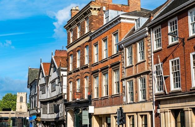 Tradycyjne angielskie domy w yorku w anglii, uk